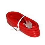 Cablu extensie telefonic rosu 2m