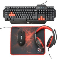 Kit gaming 4in1 tastatura casti mouse
